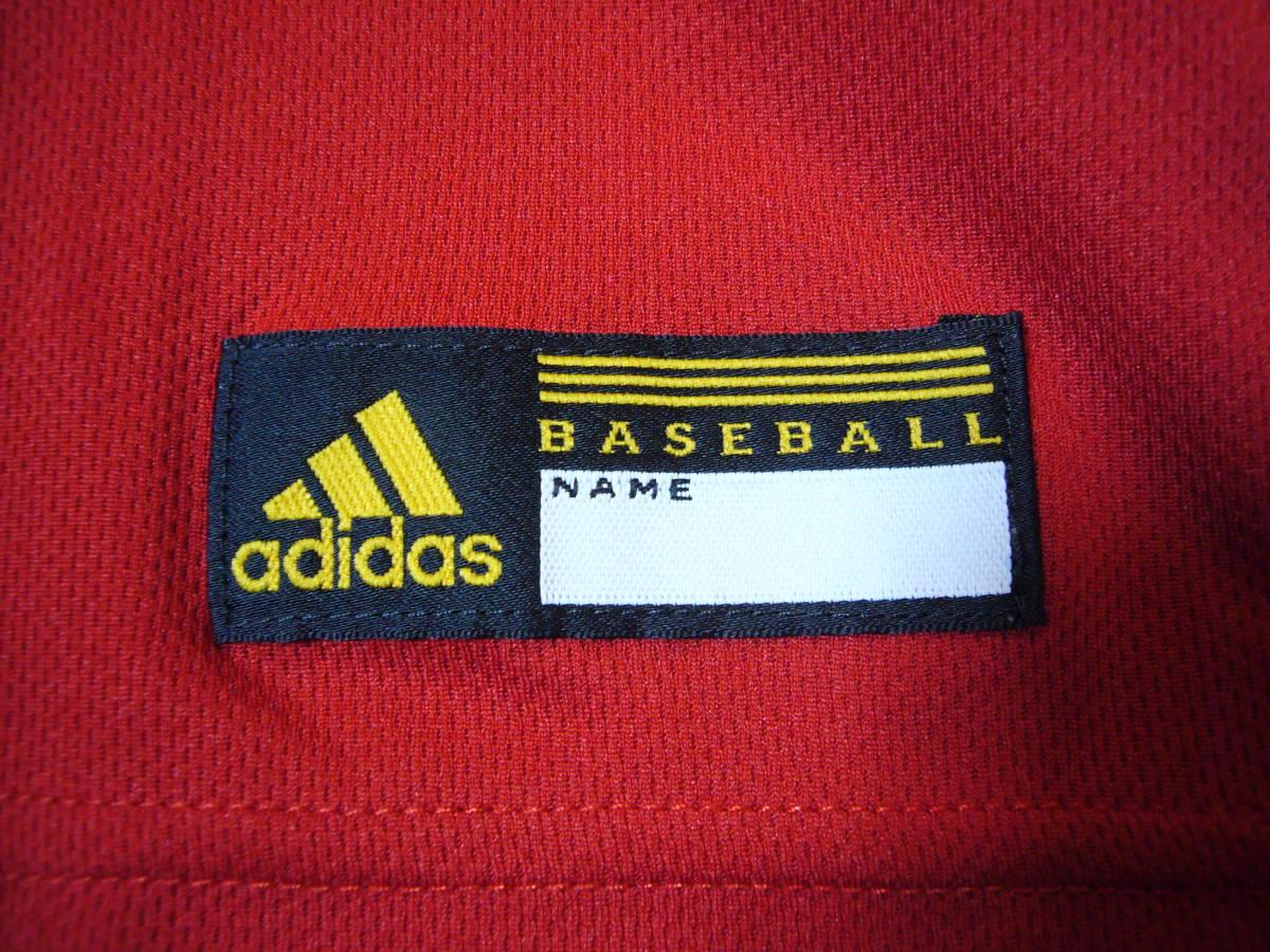 アディダス ベースボール半袖シャツ赤2XS_画像5