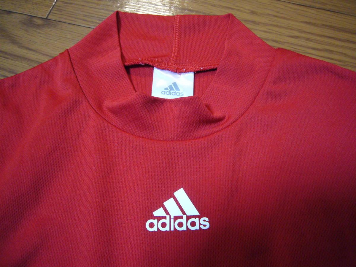 アディダス ベースボール半袖シャツ赤2XS_画像6