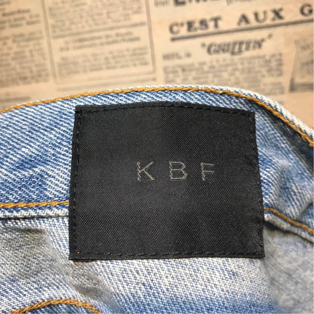 KBF ケービーエフ クラッシュデニムパンツ サイズ38_画像9