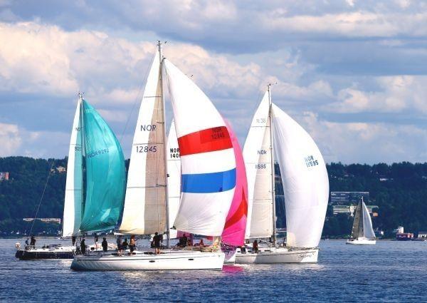 ヨット セーリング 帆船 ヨットレース ボート 船 海 絵画風 壁紙ポスター 特大 A1版 830×585mm はがせるシール式 001A1 アンティーク、コレクション&乗り物&船