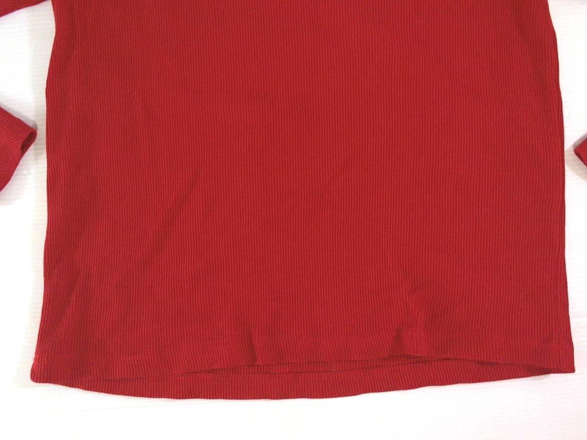 ☆美品★スイス製リーボック★Reebok★ニュージャージー デビルズ【NHL New Jersey Devils】ワッフル生地 サーマル長袖Tシャツ 赤 L/G/G_画像3