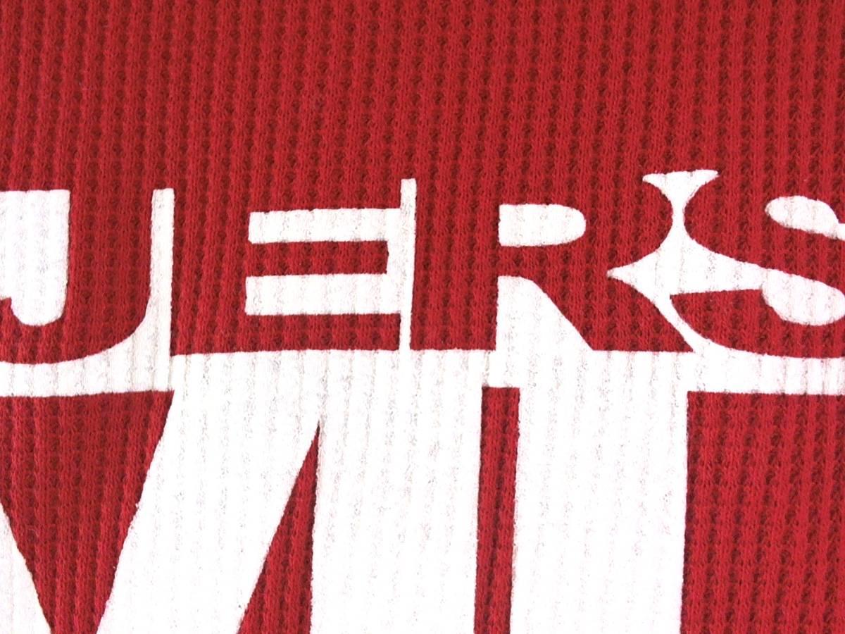 ☆美品★スイス製リーボック★Reebok★ニュージャージー デビルズ【NHL New Jersey Devils】ワッフル生地 サーマル長袖Tシャツ 赤 L/G/G_画像5