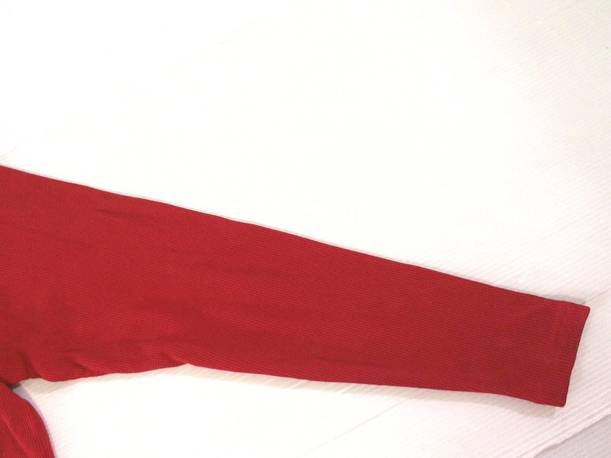 ☆美品★スイス製リーボック★Reebok★ニュージャージー デビルズ【NHL New Jersey Devils】ワッフル生地 サーマル長袖Tシャツ 赤 L/G/G_画像4