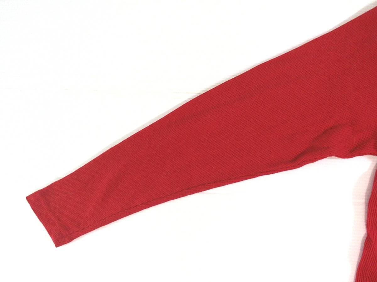 ☆美品★スイス製リーボック★Reebok★ニュージャージー デビルズ【NHL New Jersey Devils】ワッフル生地 サーマル長袖Tシャツ 赤 L/G/G_画像10