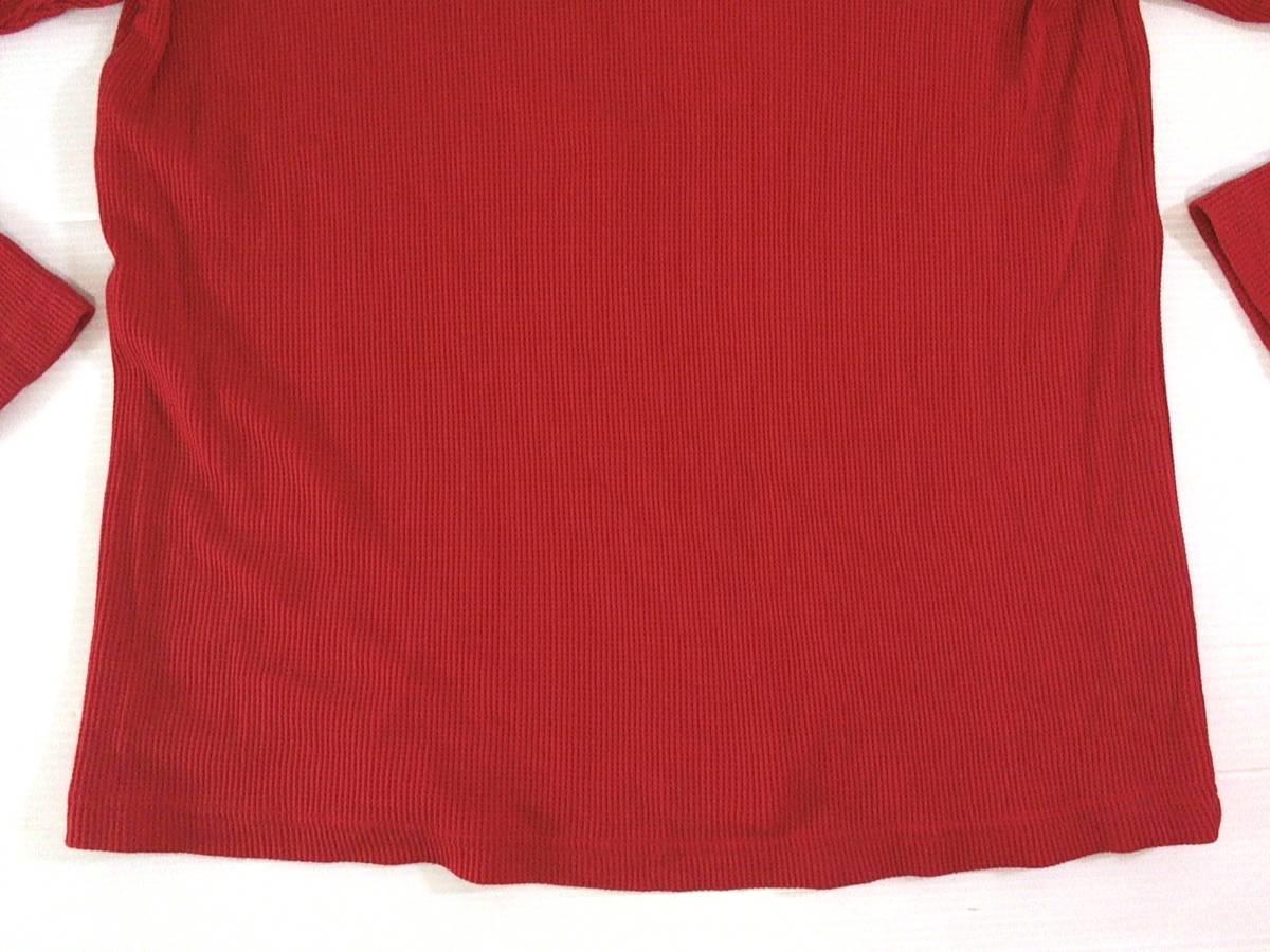 ☆美品★スイス製リーボック★Reebok★ニュージャージー デビルズ【NHL New Jersey Devils】ワッフル生地 サーマル長袖Tシャツ 赤 L/G/G_画像9
