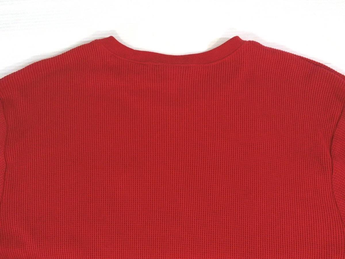 ☆美品★スイス製リーボック★Reebok★ニュージャージー デビルズ【NHL New Jersey Devils】ワッフル生地 サーマル長袖Tシャツ 赤 L/G/G_画像8