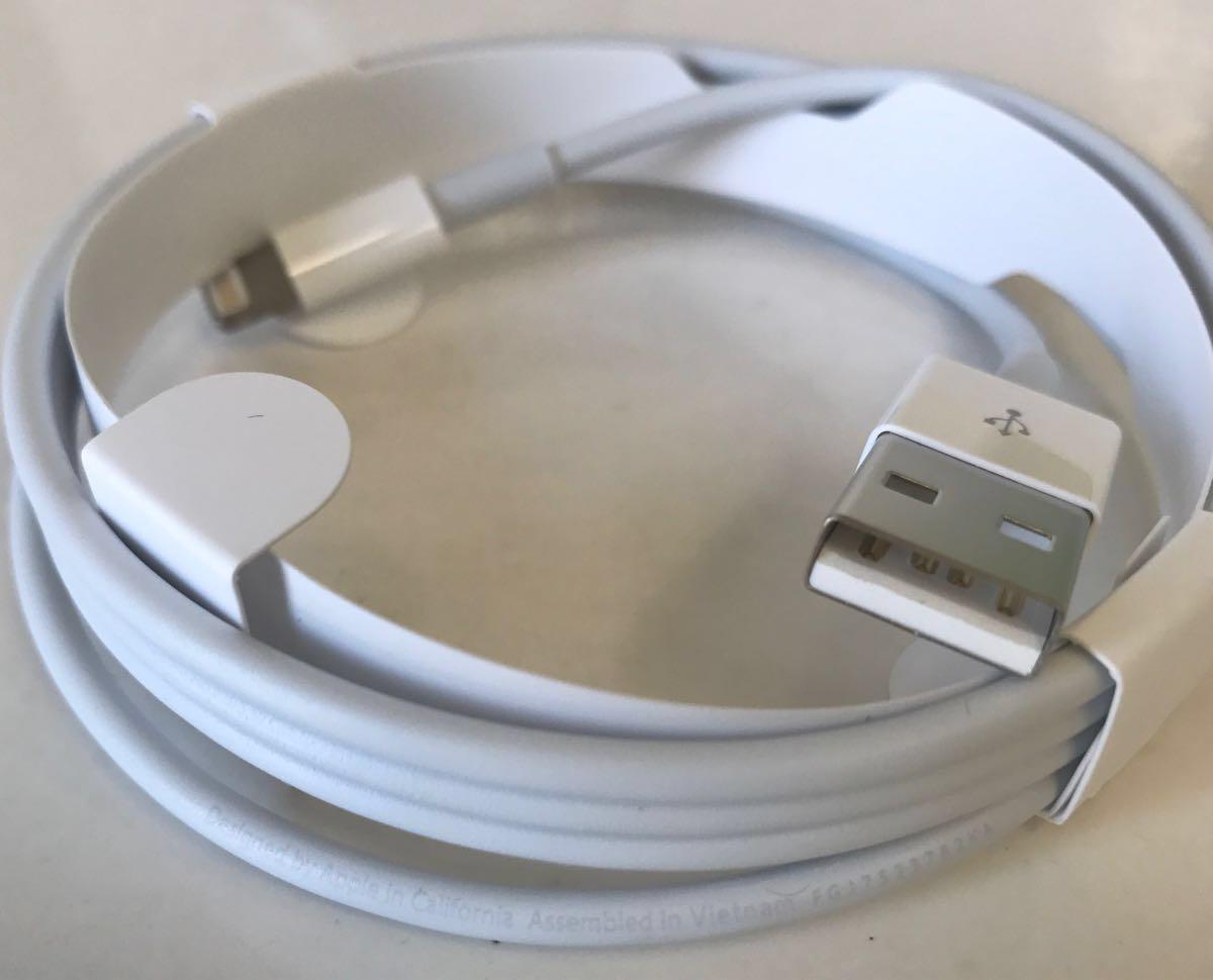 【Apple純正品】 iPad付属品 USB充電器(10W)、ライトニングケーブル【未使用】本体無し_画像8