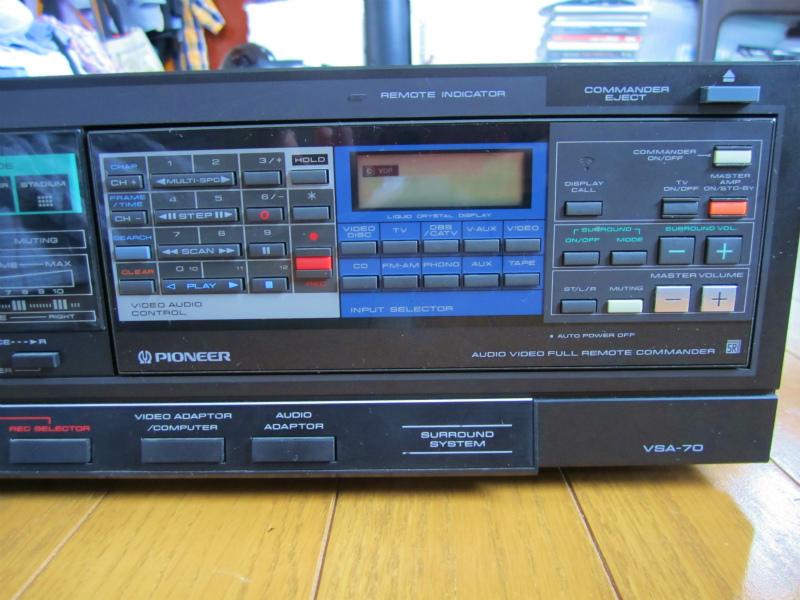 パイオニア VSA-70(リモコン付き)、 ビンテージ品、貴重品、珍品、修理品、AVアンプの先駆け、当時のAV最高機種の原点?_画像5
