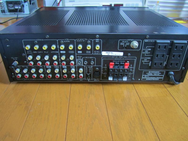 パイオニア VSA-70(リモコン付き)、 ビンテージ品、貴重品、珍品、修理品、AVアンプの先駆け、当時のAV最高機種の原点?_画像8