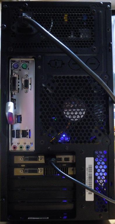 自作 i5 8400 2.8GHz 6コア /mem8GB /新品CPU+マザー+電源 /SSD128GB /HDD500GB /HD6970_画像4