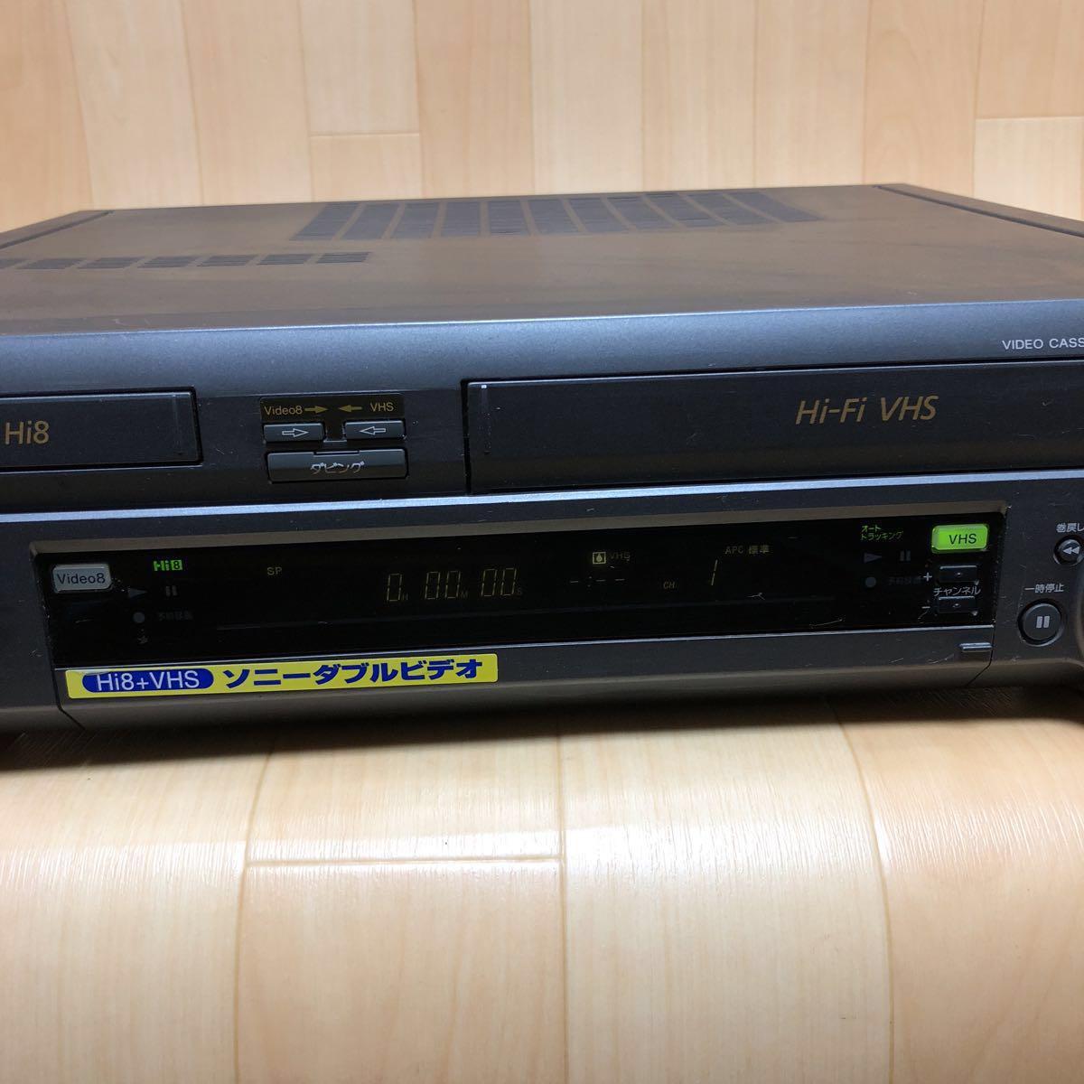 SONY WV-H4 Hi8/VHS ビデオデッキ ジャンク_画像2