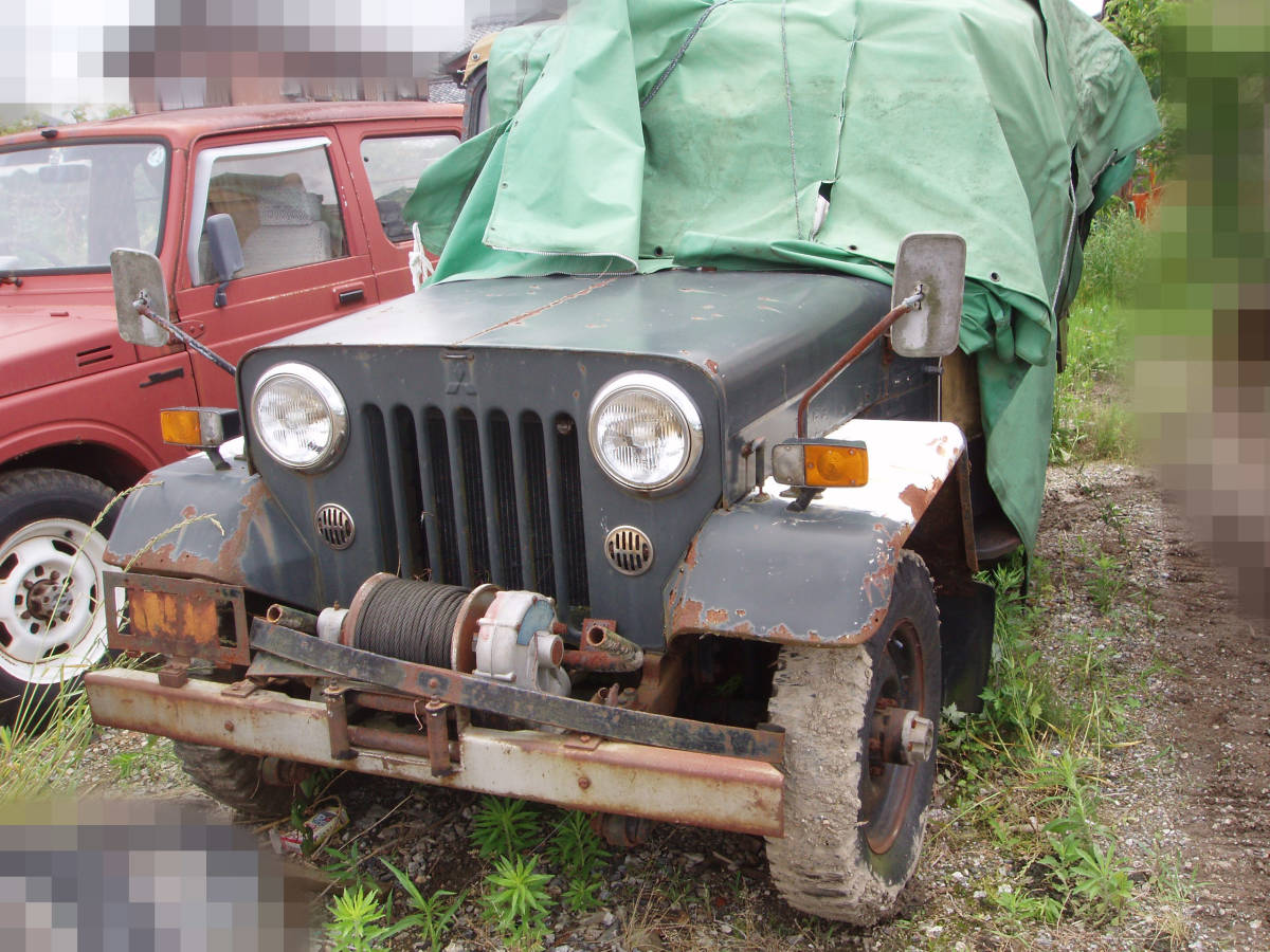 J54 Jeep JEEP 4DR5 winch attaching part removing restore base