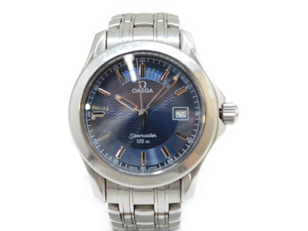 ☆ OMEGA オメガ 2511.81 Seamaster シーマスター 120m クォーツ 腕時計 メンズ