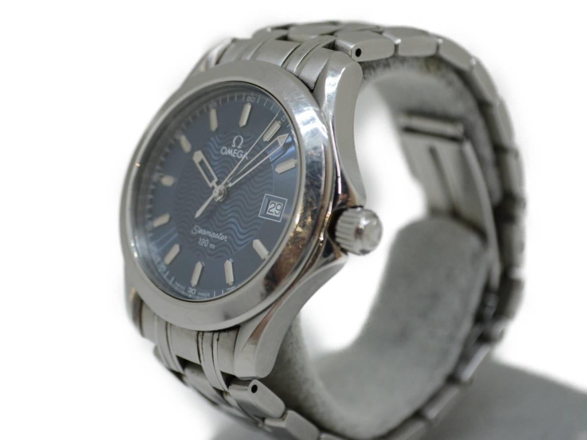☆ OMEGA オメガ 2511.81 Seamaster シーマスター 120m クォーツ 腕時計 メンズ_画像2