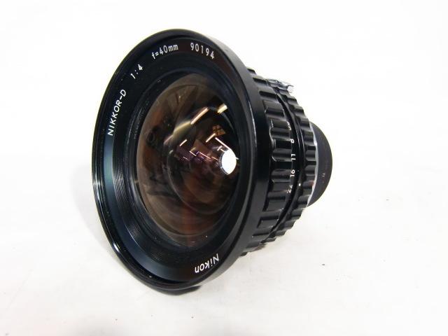 【現状品】ニコン Nikon NIKKOR-D 1:4 f=40mm ゼンザブロニカ ZENZA BRONICA 中判カメラ用 趣味 コレクション アンティーク レトロ _画像2