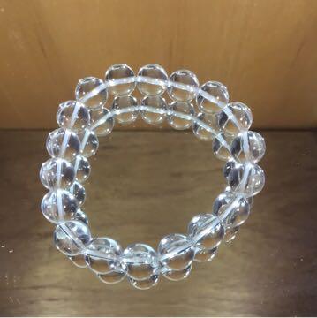 天然石ブレスレット 水晶 10.5mm珠 内周15cm_画像1