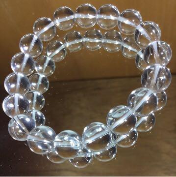 天然石ブレスレット 水晶 10.5mm珠 内周15cm_画像2