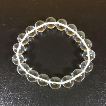 天然石ブレスレット 水晶 10.5mm珠 内周15cm_画像6