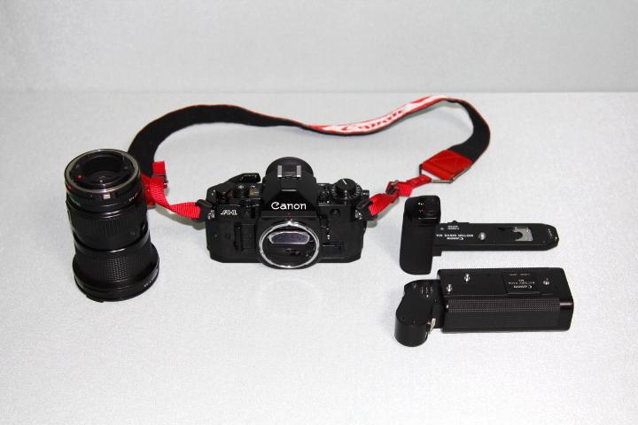 中古 Canon A-1 本体 35-105mm レンズ モータードライブセット データバック付 シャッター動作確認_画像6