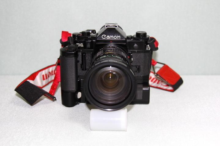 中古 Canon A-1 本体 35-105mm レンズ モータードライブセット データバック付 シャッター動作確認