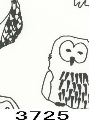 ☆大特価!レトロポップなフクロウ柄の壁紙クロス 税込み☆_画像2