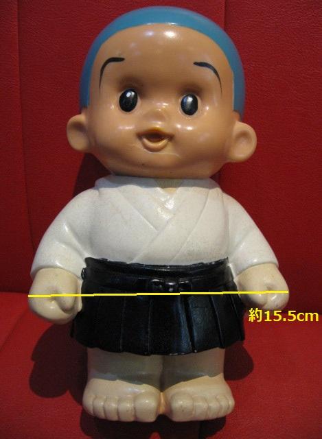 ◆即決◆ 希少品? 古い一休さん? 貯金箱フィギュア 人形 ソフビ  ※高さ=約25.5cm _画像2