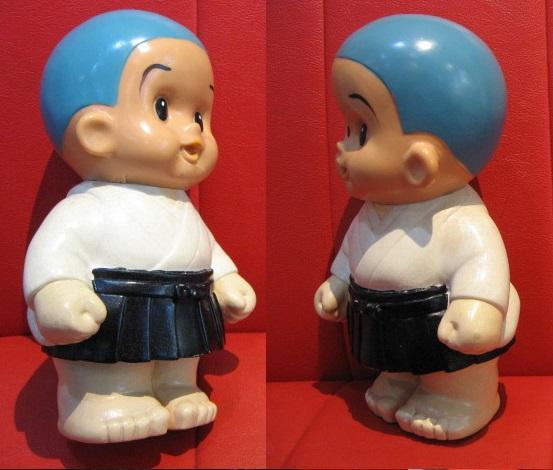 ◆即決◆ 希少品? 古い一休さん? 貯金箱フィギュア 人形 ソフビ  ※高さ=約25.5cm _画像3