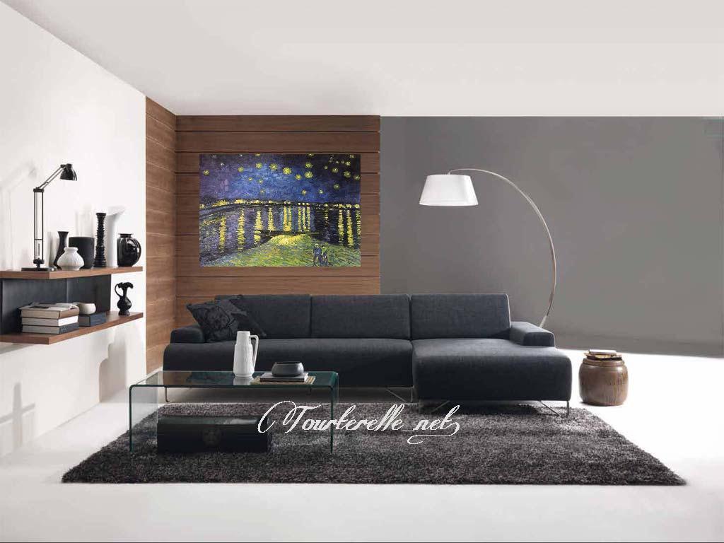 "◆Modern Art◆肉筆☆油絵☆F20号『Starry""Night』ゴッホ/模写☆_画像2"