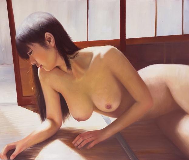真作◆Modern Art◆肉筆☆油絵☆F20☆『裸婦/18-0716⑤』菅光司作_画像1