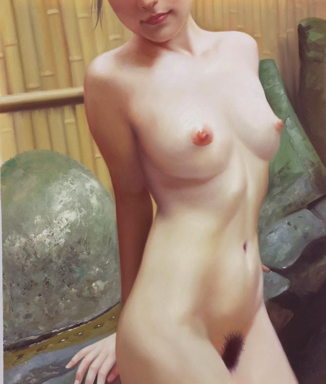 ◆Modern Art◆肉筆☆油絵☆F20☆『裸婦/18-0715②』菅光司作