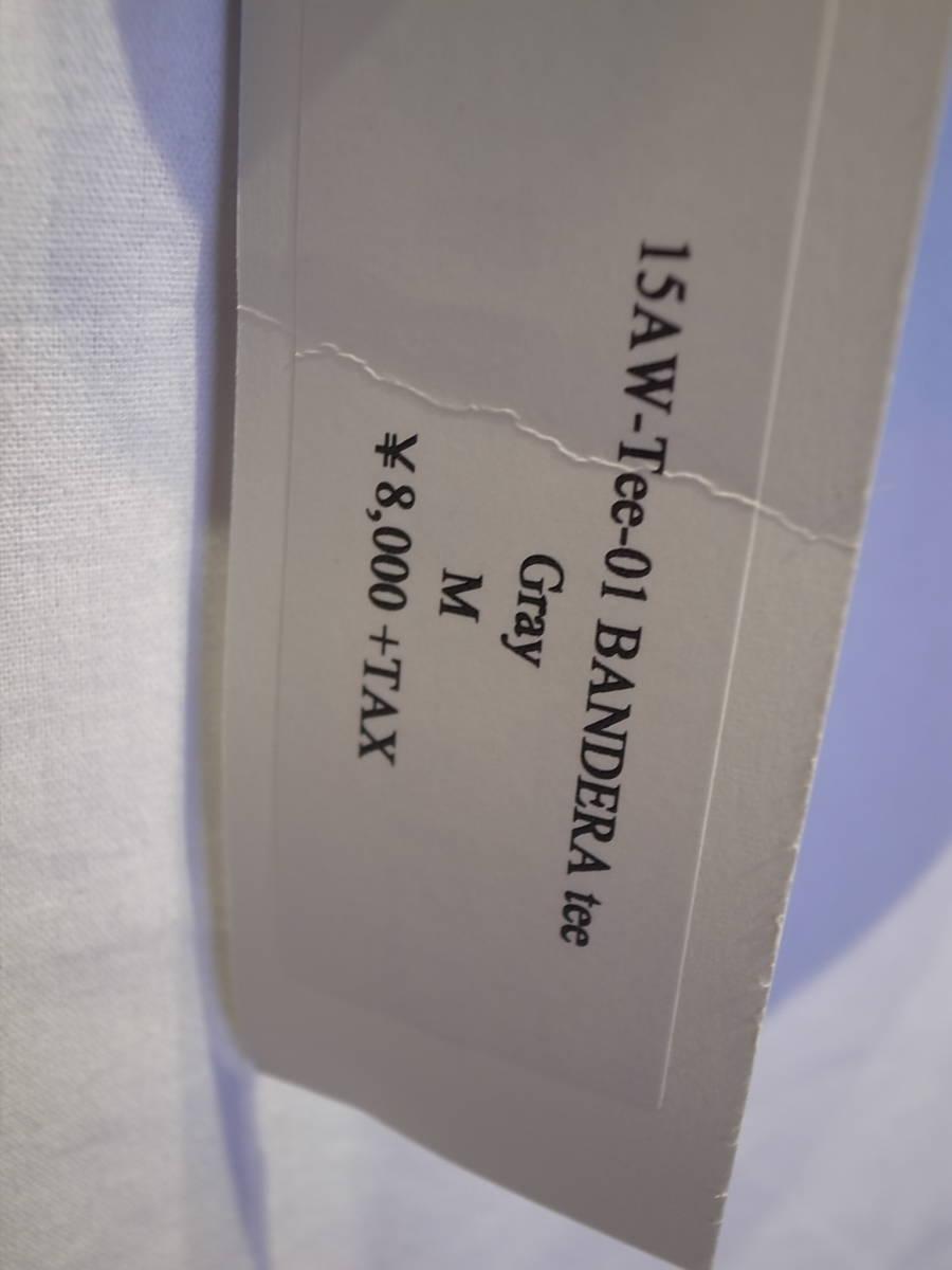 【新品】BUENAVISTA BANDERA T-SHIRT 半袖 シャツ デニム パンツ TEE Tシャツ バスク ブエナビスタ 石塚 GRAY サイズM_画像3