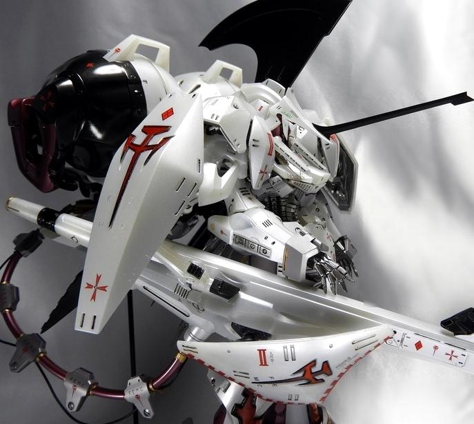 EmperorDesigns レッドミラージュ インフェルノナパーム アイシャ仕様完成品 ボークス 1/100 IMS FSS ファイブスター物語 (検索 GTM)_画像9