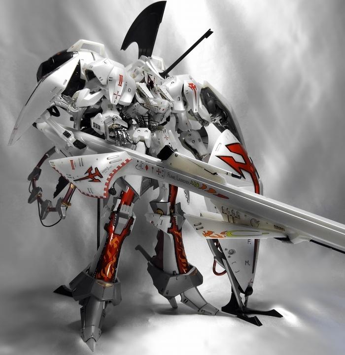 EmperorDesigns レッドミラージュ インフェルノナパーム アイシャ仕様完成品 ボークス 1/100 IMS FSS ファイブスター物語 (検索 GTM)_画像6