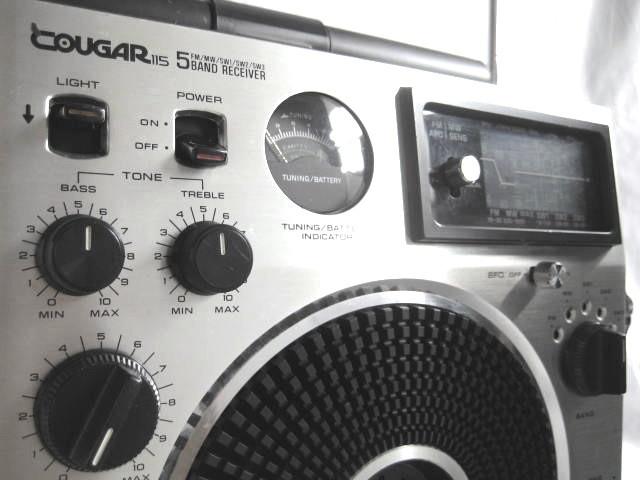 BCL 美品 完全動作調整済品 ナショナルパナソニック クーガ115(RF-1150) 高音質ビッグスピーカ ジャイロアンテナ 昭和トランジスタラジオ_画像5