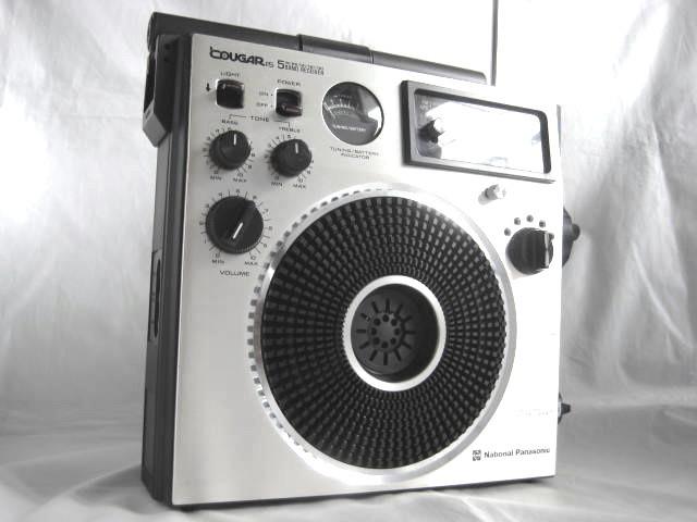 BCL 美品 完全動作調整済品 ナショナルパナソニック クーガ115(RF-1150) 高音質ビッグスピーカ ジャイロアンテナ 昭和トランジスタラジオ
