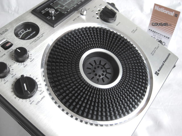 BCL 美品 完全動作調整済品 ナショナルパナソニック クーガ115(RF-1150) 高音質ビッグスピーカ ジャイロアンテナ 昭和トランジスタラジオ_画像3