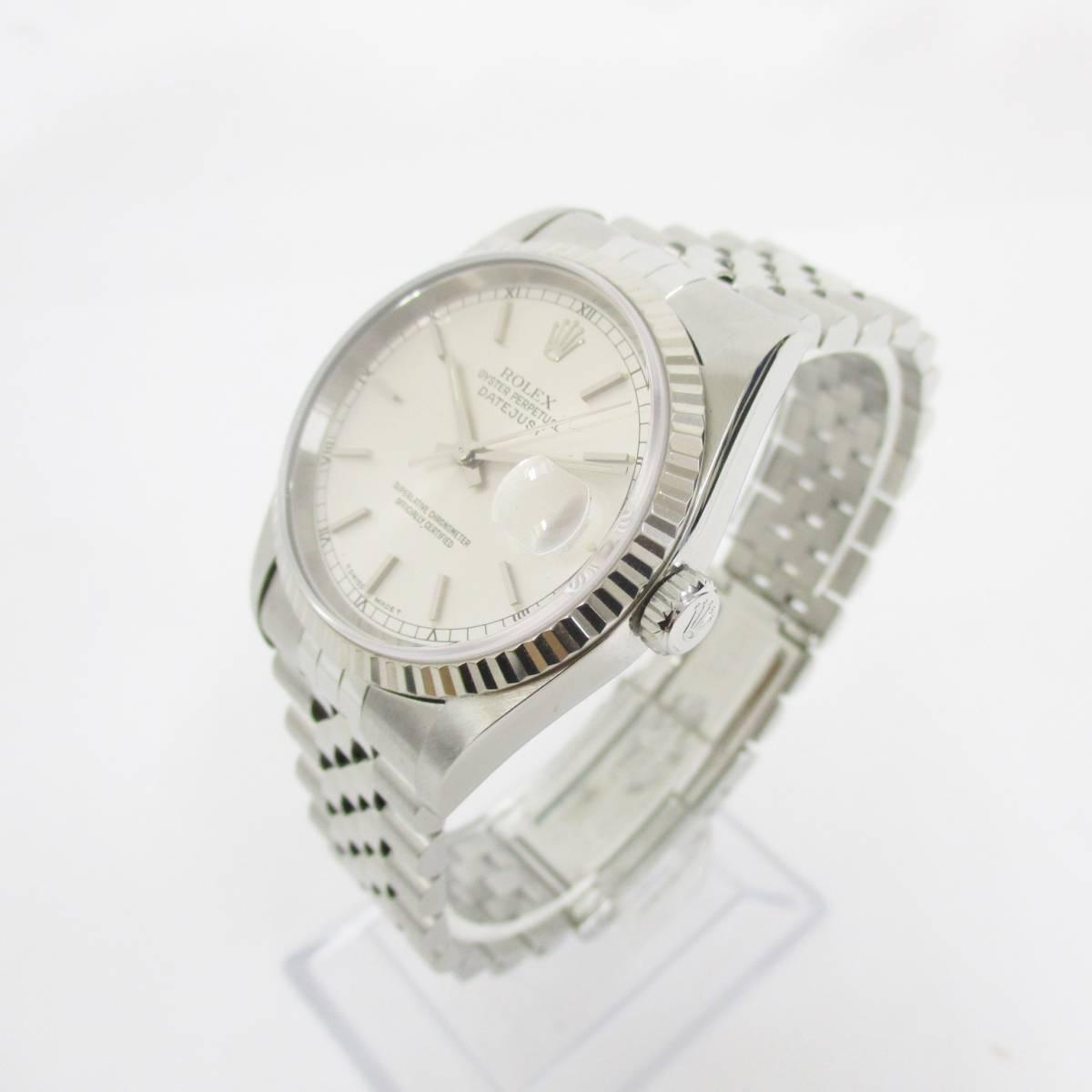 ROLEX ロレックス OYSTER PERPETUAL オイスターパーペチュアル DATEJUST デイトジャスト 16234 T番 メンズ 腕時計 自動巻き 大ReB08 0522 2_画像3