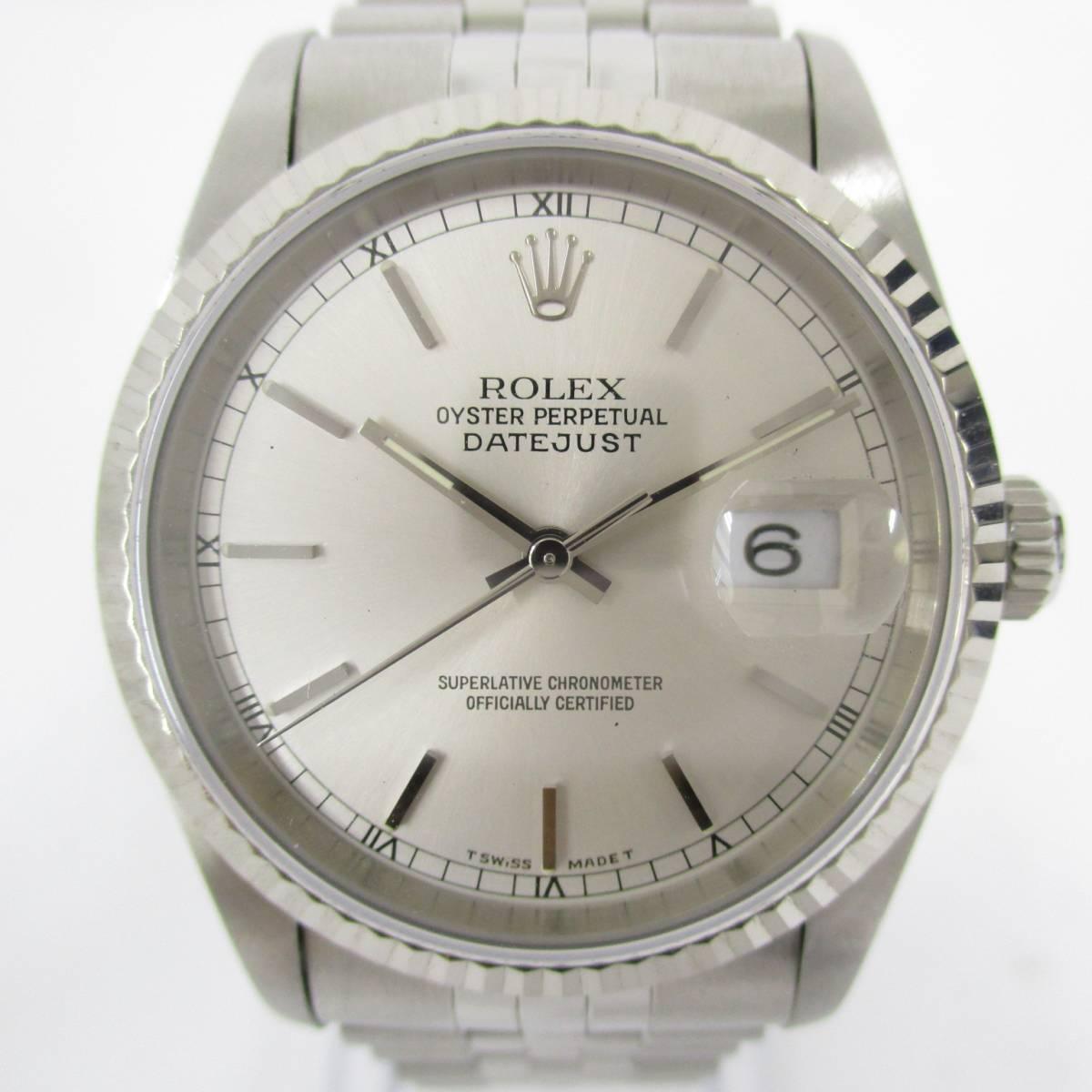 ROLEX ロレックス OYSTER PERPETUAL オイスターパーペチュアル DATEJUST デイトジャスト 16234 T番 メンズ 腕時計 自動巻き 大ReB08 0522 2