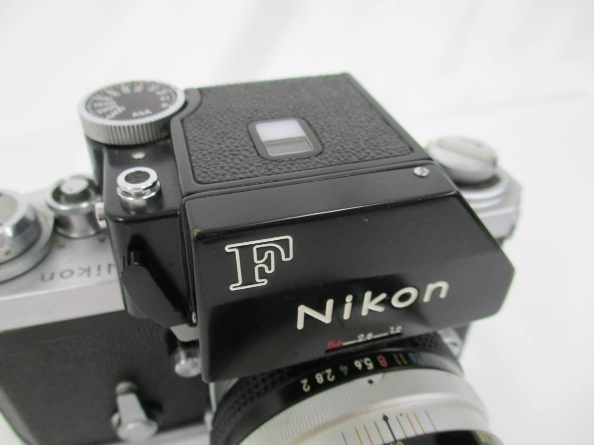Nikon ニコン 一眼レフ フィルムカメラ F シルバ-ボディ アイレベルファインダー フォトミックファインダーFtn レンズ付き 大ReB15 0507 2_画像8