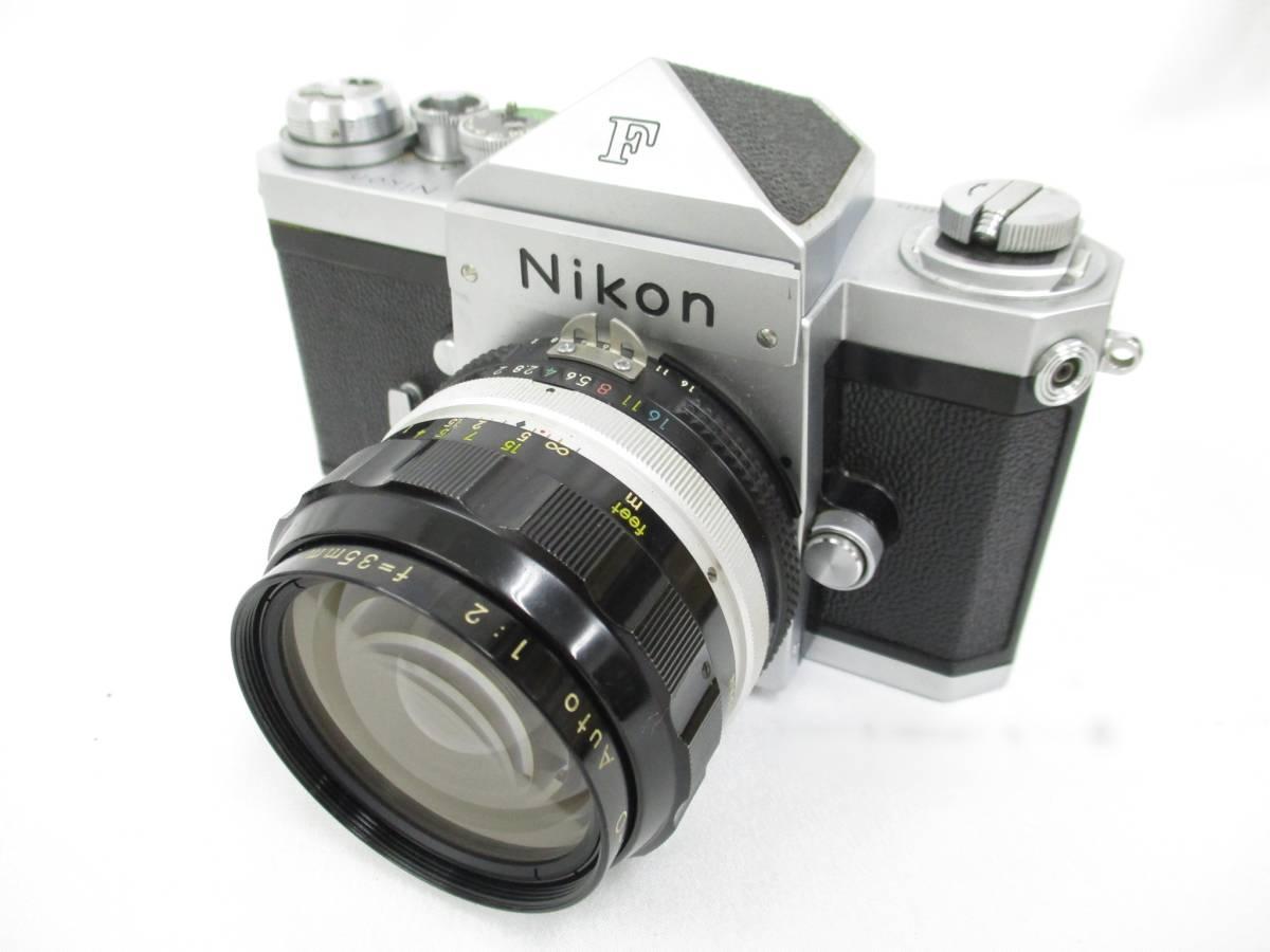 Nikon ニコン 一眼レフ フィルムカメラ F シルバ-ボディ アイレベルファインダー フォトミックファインダーFtn レンズ付き 大ReB15 0507 2_画像2
