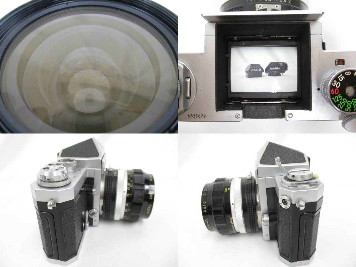 Nikon ニコン 一眼レフ フィルムカメラ F シルバ-ボディ アイレベルファインダー フォトミックファインダーFtn レンズ付き 大ReB15 0507 2_画像6