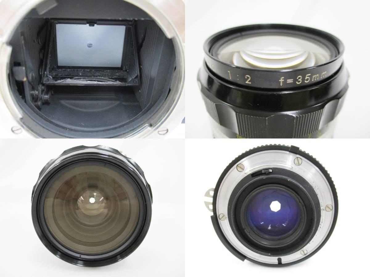 Nikon ニコン 一眼レフ フィルムカメラ F シルバ-ボディ アイレベルファインダー フォトミックファインダーFtn レンズ付き 大ReB15 0507 2_画像5