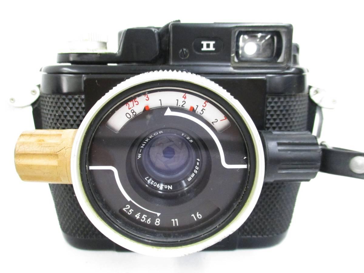Nikon ニコン NIKONOS II ニコノス2 フィルムカメラ 水中カメラ レンズ W-NIKKOR 1:2.5 f=35mm ジャンク 大ReB08 0528 2_画像2