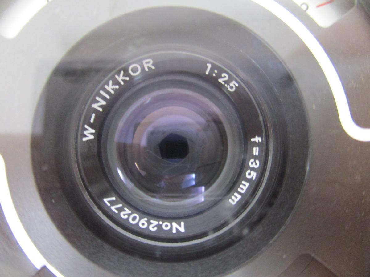 Nikon ニコン NIKONOS II ニコノス2 フィルムカメラ 水中カメラ レンズ W-NIKKOR 1:2.5 f=35mm ジャンク 大ReB08 0528 2_画像6