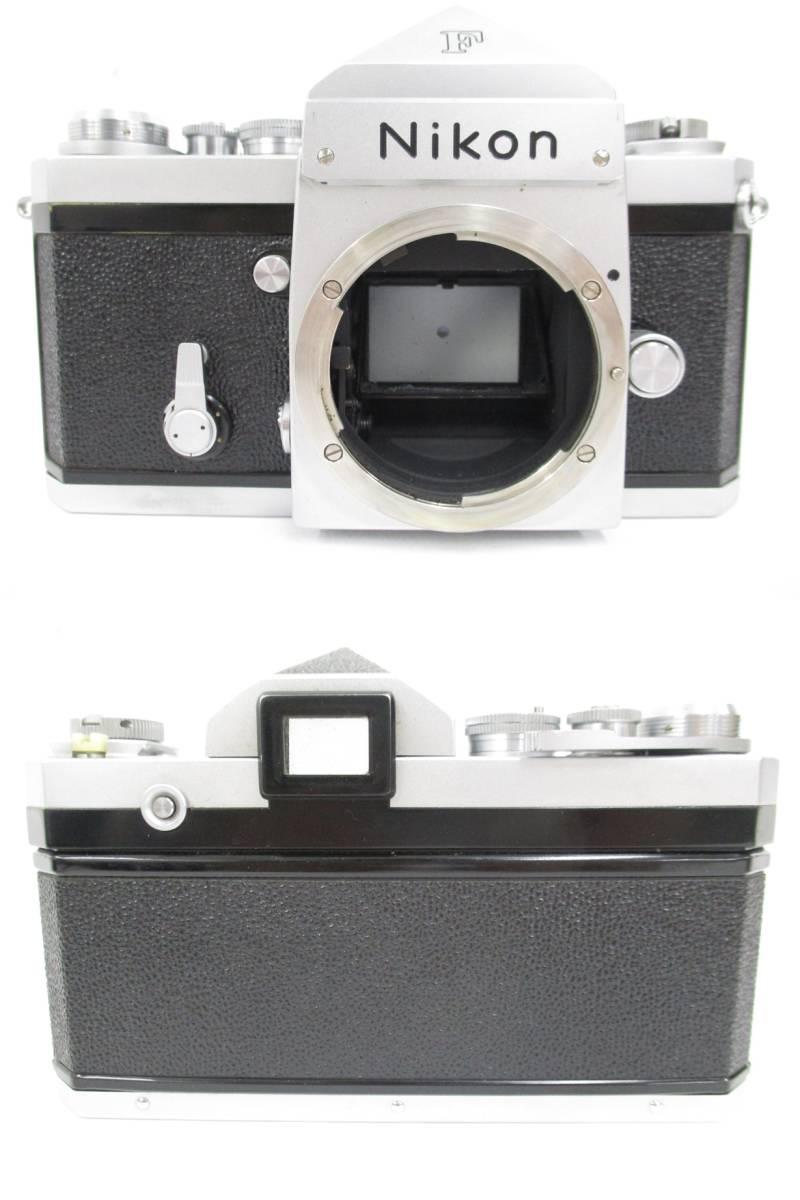 Nikon ニコン 一眼レフ フィルムカメラ F シルバ-ボディ アイレベルファインダー フォトミックファインダーFtn レンズ付き 大ReB15 0507 2_画像3