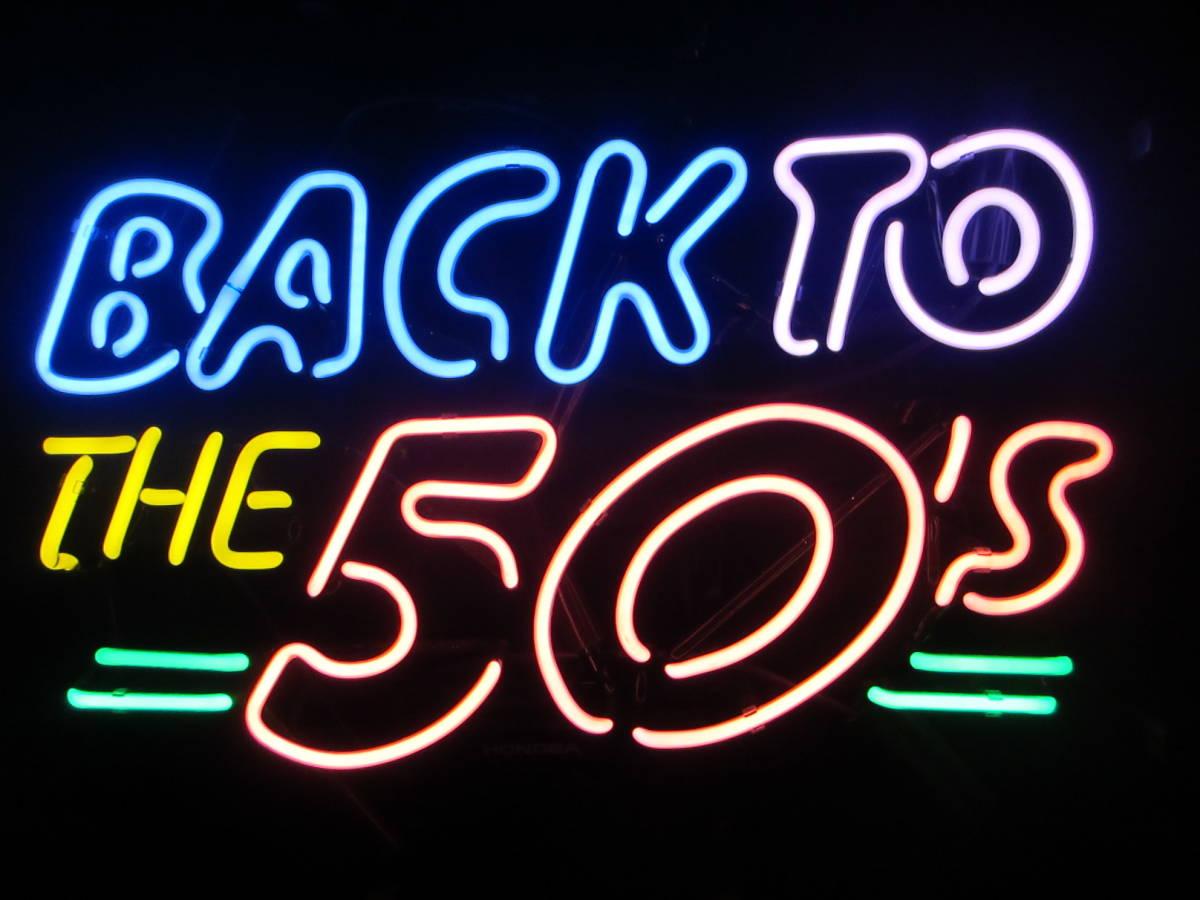 ☆税込☆【Back To The 50's】LED看板 レトロアメリカン インテリア/雑貨/BAR/バー/店舗看板 ディスプレイ_画像2