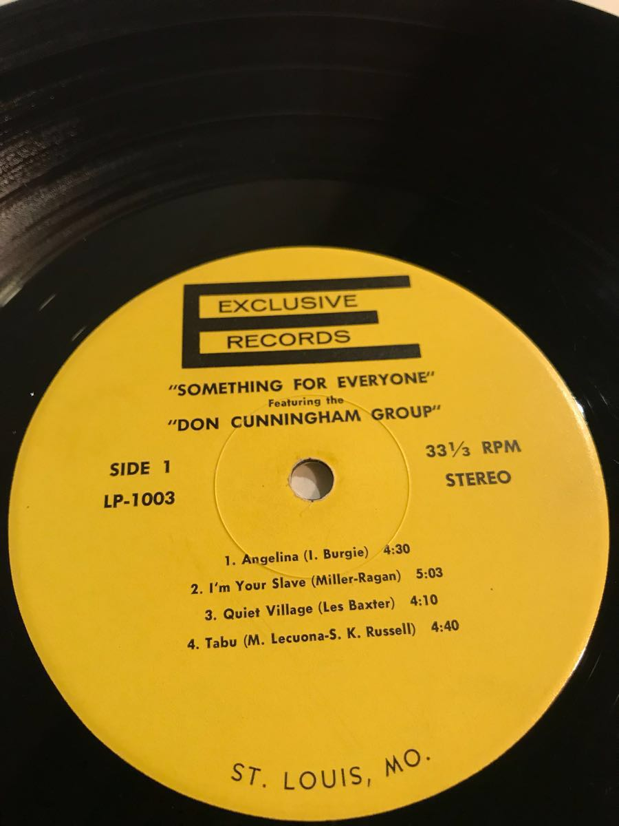 DON CUNNINGHAM QUARTET『SOMETHING FOR EVERYONE』65' Exclusive US オリジナル_画像5