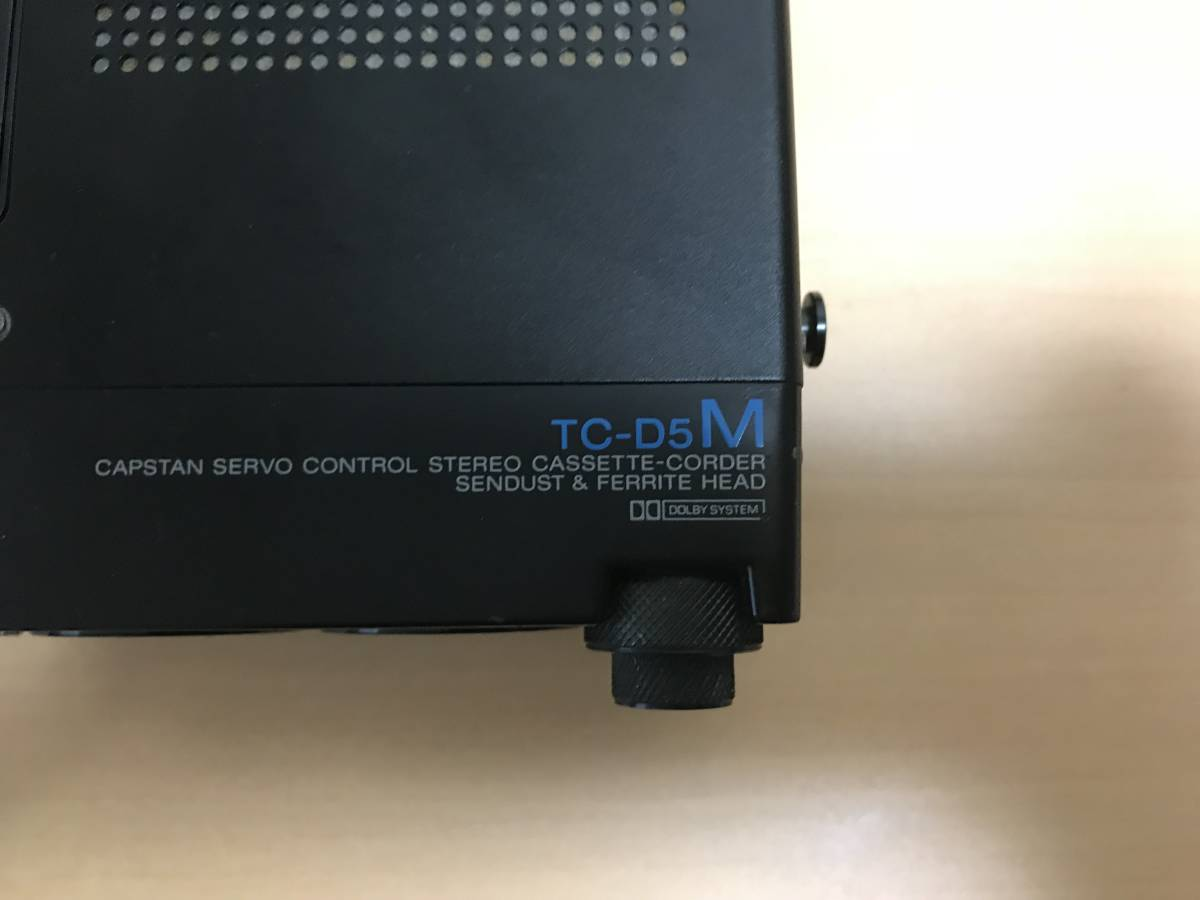 SONY ポータブルカセットレコーダー TC-D5M ジャンク_画像3