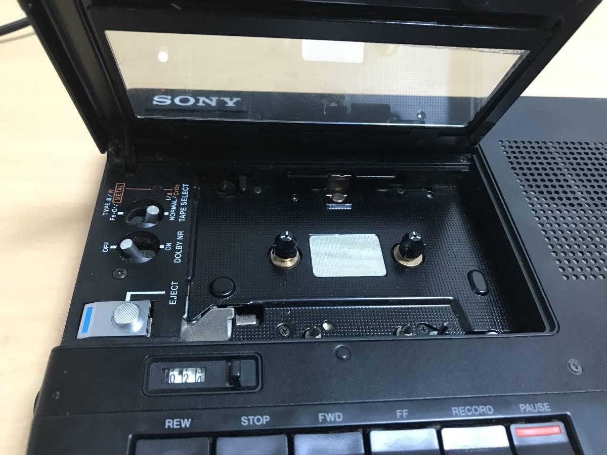 SONY ポータブルカセットレコーダー TC-D5M ジャンク_画像5