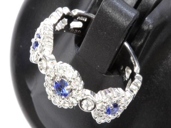 ●本物新品同様 プラチナリング Pt900 指輪 ダイヤ サファイヤ デザインリング RAI7_画像2